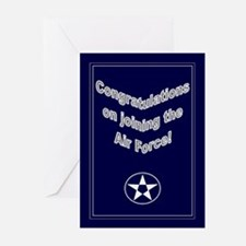 Congrats on Joining Air Force Greeting Cards (Pk o
