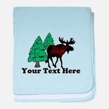 Customized Moose WoodsT's baby blanket