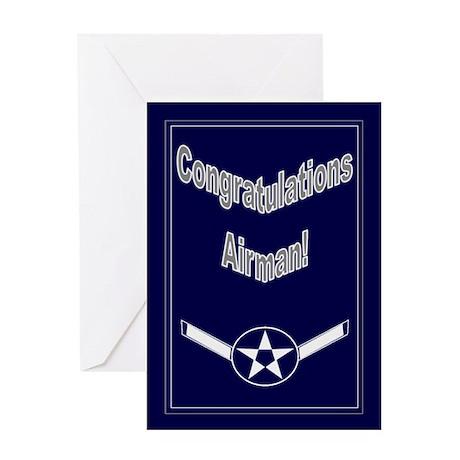 Congratulations On Usaf Airma Greeting Card