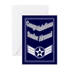 Congratulations Usaf Senior A Greeting Card