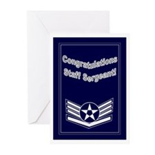 Congratulations USAF Staff Se Greeting Cards (Pk o