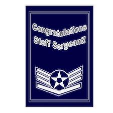 Congratulations USAF Staff Se Postcards (Package o