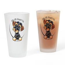 Wild Boar Dachshund IAAM Drinking Glass