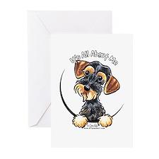 Wild Boar Dachshund IAAM Greeting Cards (Pk of 10)