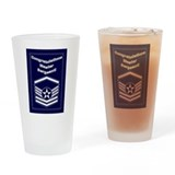 Air force master sergeant Pint Glasses