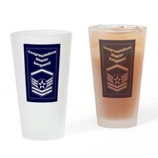 Congratulations USAF Master S Drinking Glass