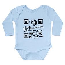 funny scan code Long Sleeve Infant Bodysuit