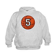 Basketball Player Number 5 Hoodie