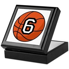 Basketball Player Number 6 Keepsake Box