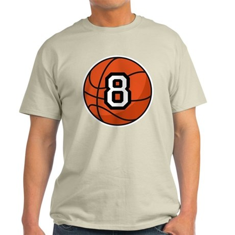 Basketball Player Number 8 Light T-Shirt