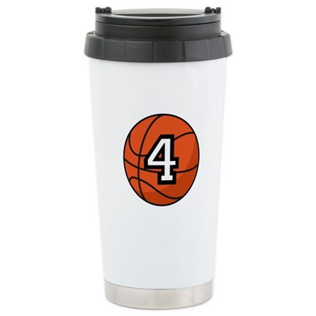 Basketball Player Number 4 Stainless Steel Travel