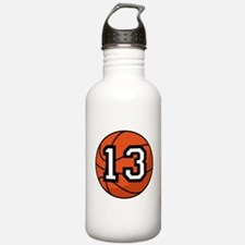 Basketball Player Number 13 Water Bottle