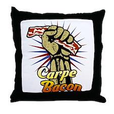 Carpe Bacon Throw Pillow