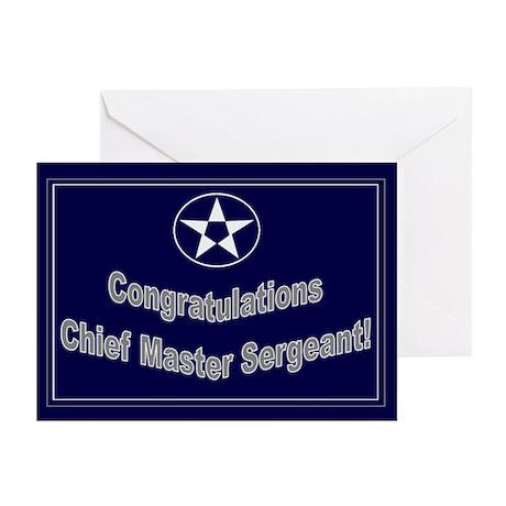 Congratulations USAF Chief Ma Greeting Cards (Pk o