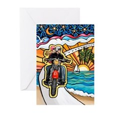 Motorcycle Skyway #1 Greeting Cards (Pk of 20)