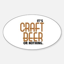 Craft Beer or Nothing Decal