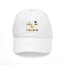 Peace Love Preschool Baseball Cap