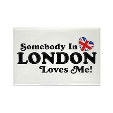 Somebody In London Loves Me Rectangle Magnet