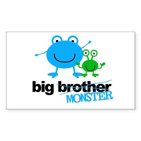 Big Brother Monster Sticker (Rectangle)
