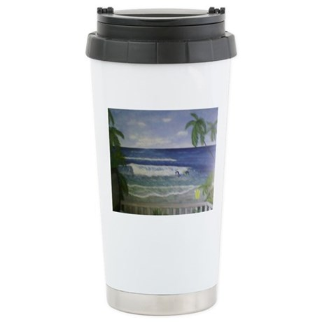 Beach Art Stainless Steel Travel Mug