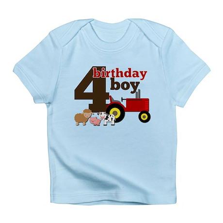 Farm/Tractor Birthday Boy Infant T-Shirt