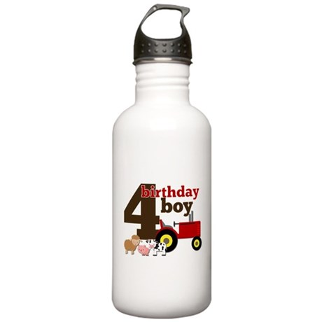 Farm/Tractor Birthday Boy Stainless Water Bottle 1