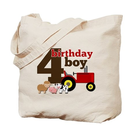 Farm/Tractor Birthday Boy Tote Bag
