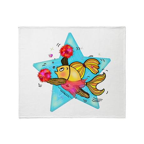 Cheerleader Fish Throw Blanket