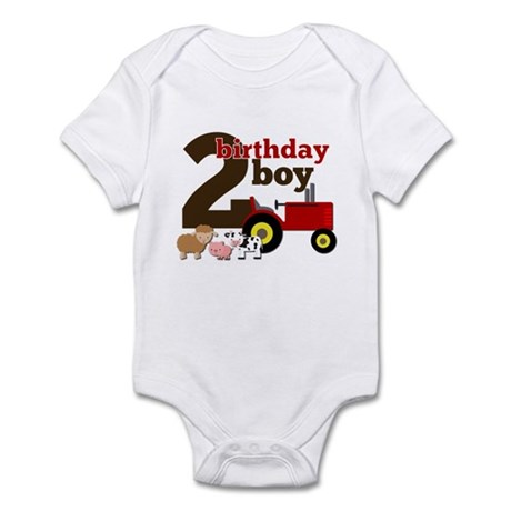 Farm/Tractor Birthday Boy Infant Bodysuit