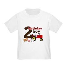 Farm/Tractor Birthday Boy T