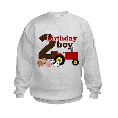Farm/Tractor Birthday Boy Kids Sweatshirt