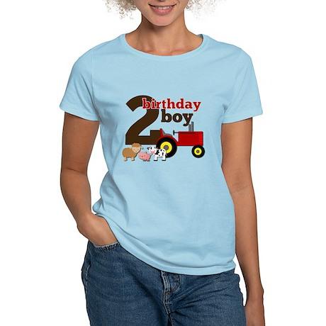 Farm/Tractor Birthday Boy Women's Light T-Shirt
