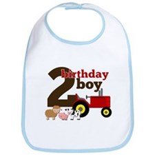 Farm/Tractor Birthday Boy Bib