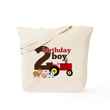 Farm/Tractor Birthday Boy Tote Bag