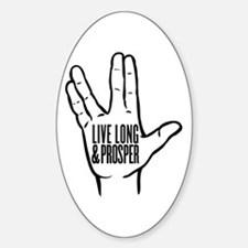 Live Long and Prosper Sticker (Oval)