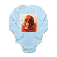 Red Skull Long Sleeve Infant Bodysuit