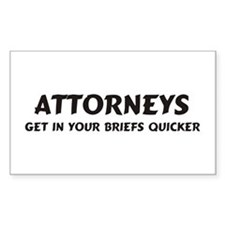 Attorneys Rectangle Decal