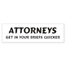 Attorneys Bumper Bumper Sticker