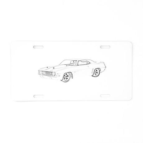 Chevy Camaro Z28 Aluminum License Plate