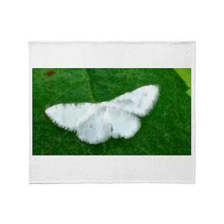 White Moth Throw Blanket
