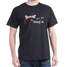 Beagle Gifts Black T-Shirt