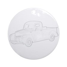 Ford Pickup 1940 Ornament (Round)