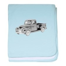Ford Pickup 1940 -colored baby blanket