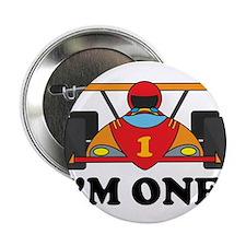 """Racing Car 1st Birthday 2.25"""" Button"""