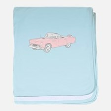 Ford Thunderbird Convertible baby blanket