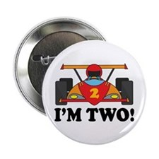 "Racing Car 2nd Birthday 2.25"" Button"