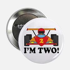"Racing Car 2nd Birthday 2.25"" Button"