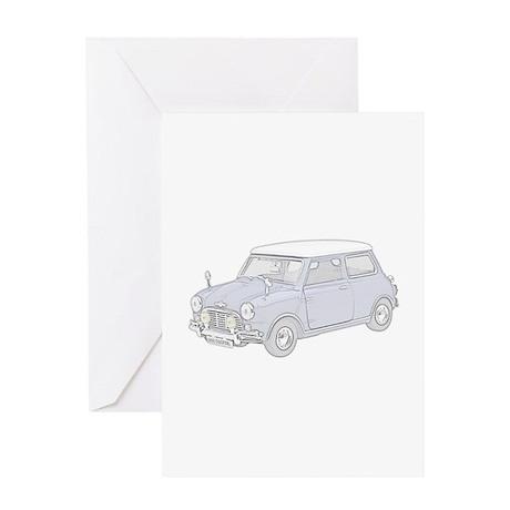 Mini Cooper 1962 -colored Greeting Card