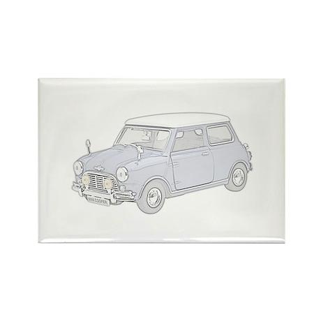 Mini Cooper 1962 -colored Rectangle Magnet (100 pa