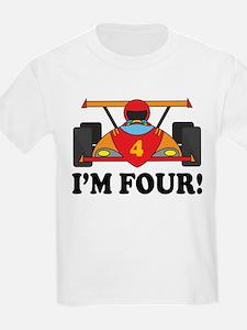Racing Car 4th Birthday T-Shirt